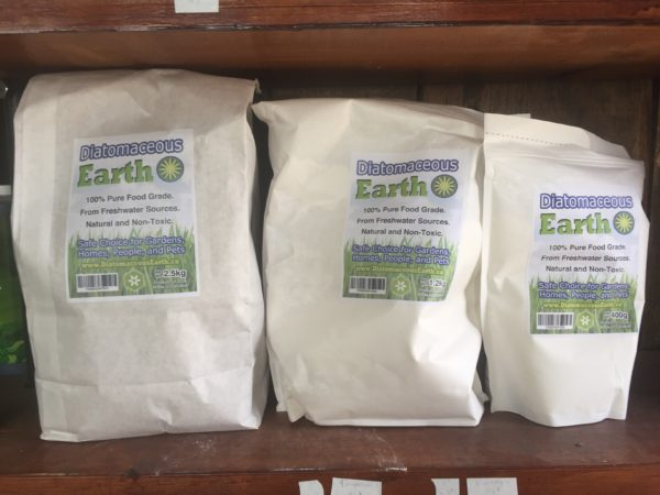 3 bags of diatomaceous earth